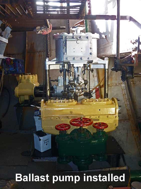JO-Ballast-pump-reinstalled