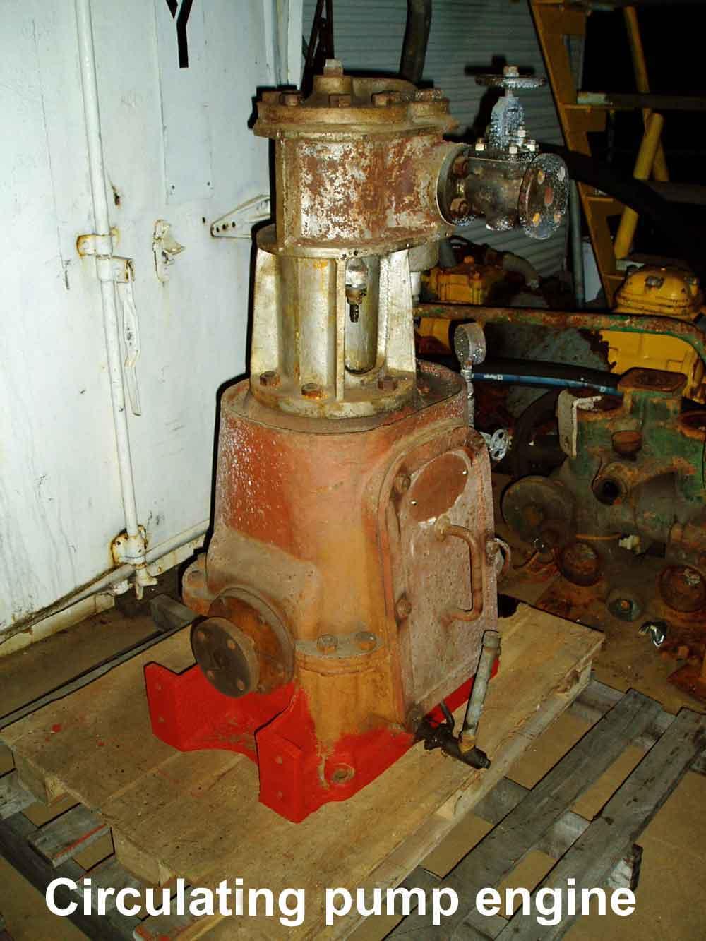 Matthew Paul circulating pump engine before restoration