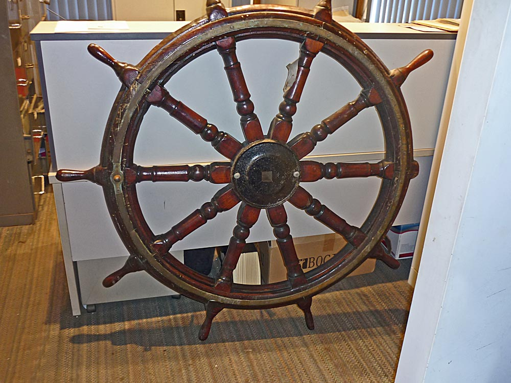 Lady Scott's 5 foot traditional steering wheel