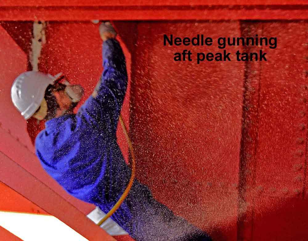 Needle-gun-tank