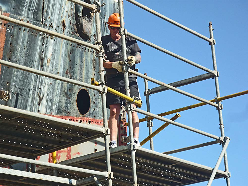 Scaffolding work from project partners STA