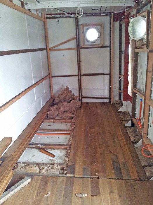 Chief Engineer cabin with new deck going in