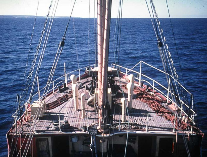 John Oxley steaming up coast from Jervis Bay (Image B Holden)
