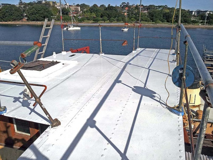 New bridge deck awaiting wheelhouse