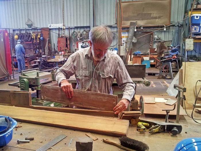 Repairs to teak wheelhouse timbers