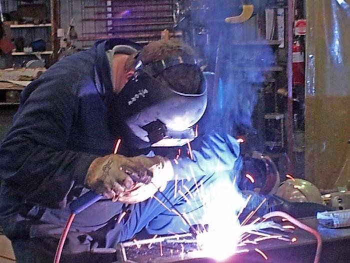 Tadano crane - welded repairs underway